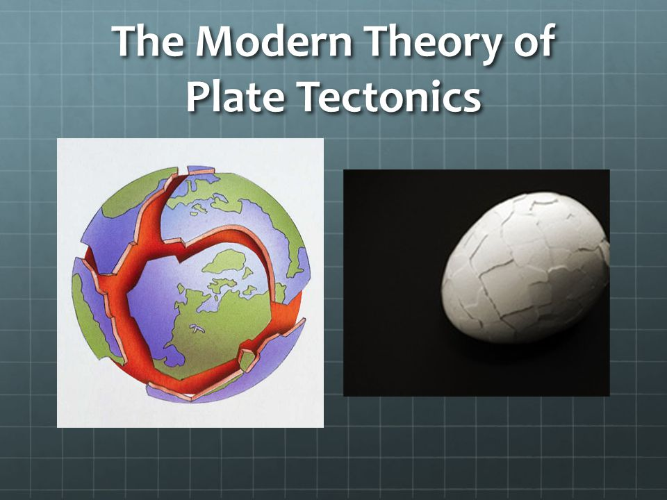 The Modern Theory of Plate Tectonics