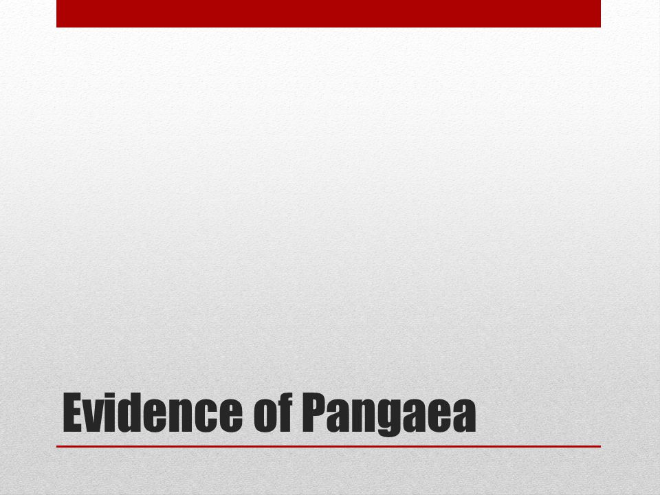Evidence of Pangaea