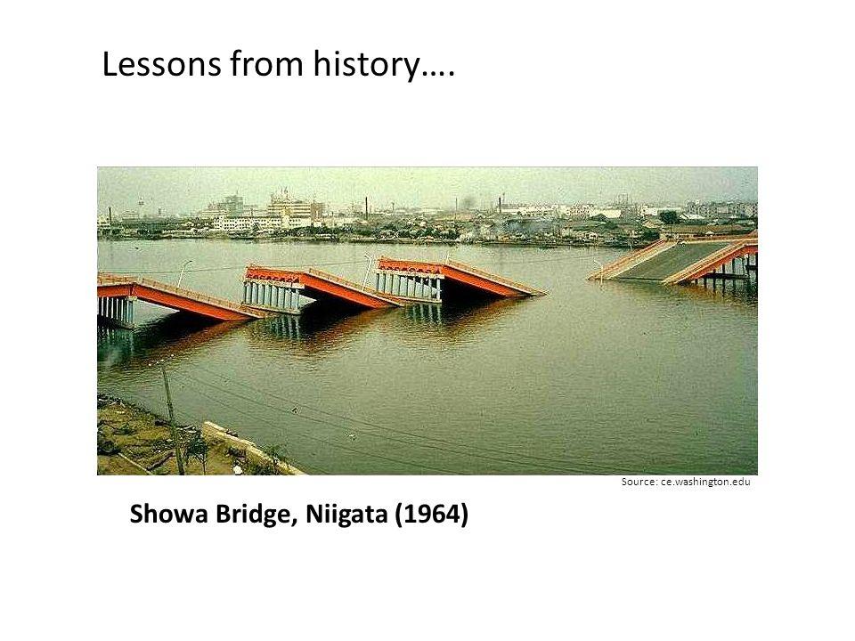 Lessons from history…. Showa Bridge, Niigata (1964)