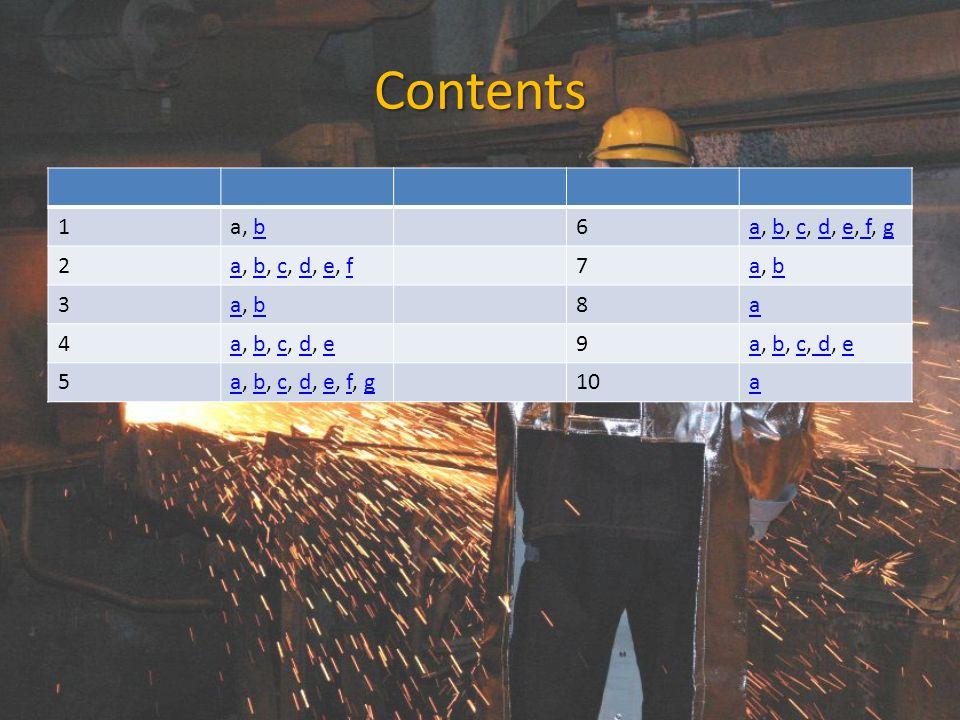 Contents 1 a, b 6 a, b, c, d, e, f, g 2 a, b, c, d, e, f 7 3 8 a 4