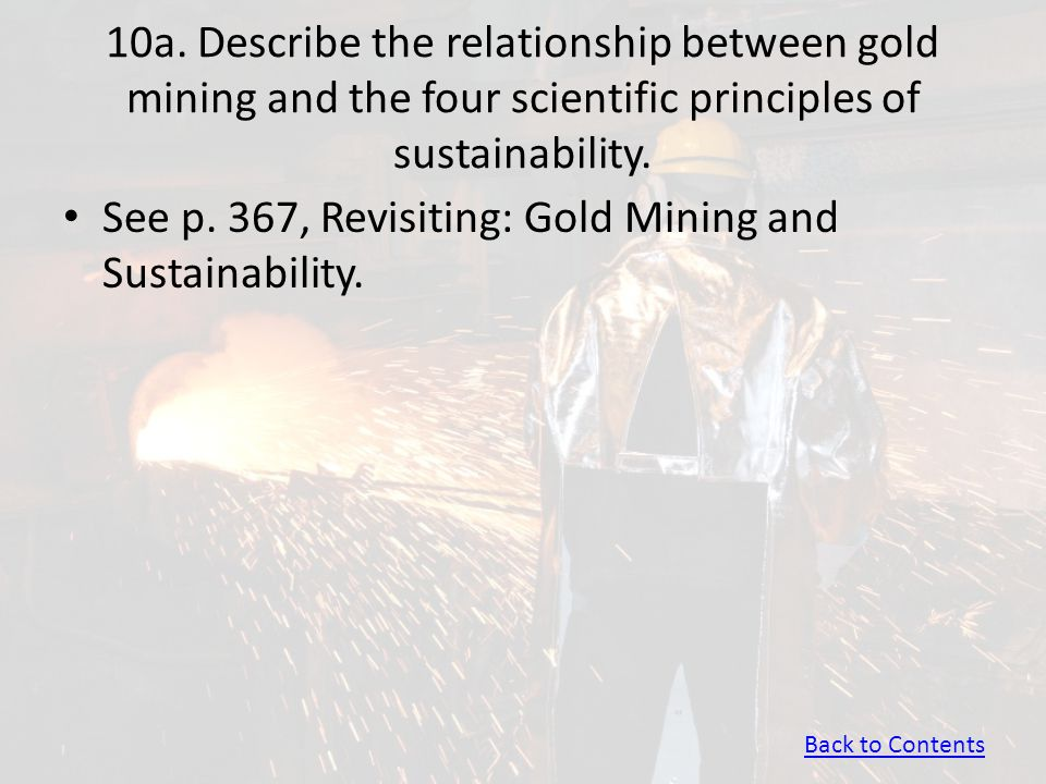 See p. 367, Revisiting: Gold Mining and Sustainability.
