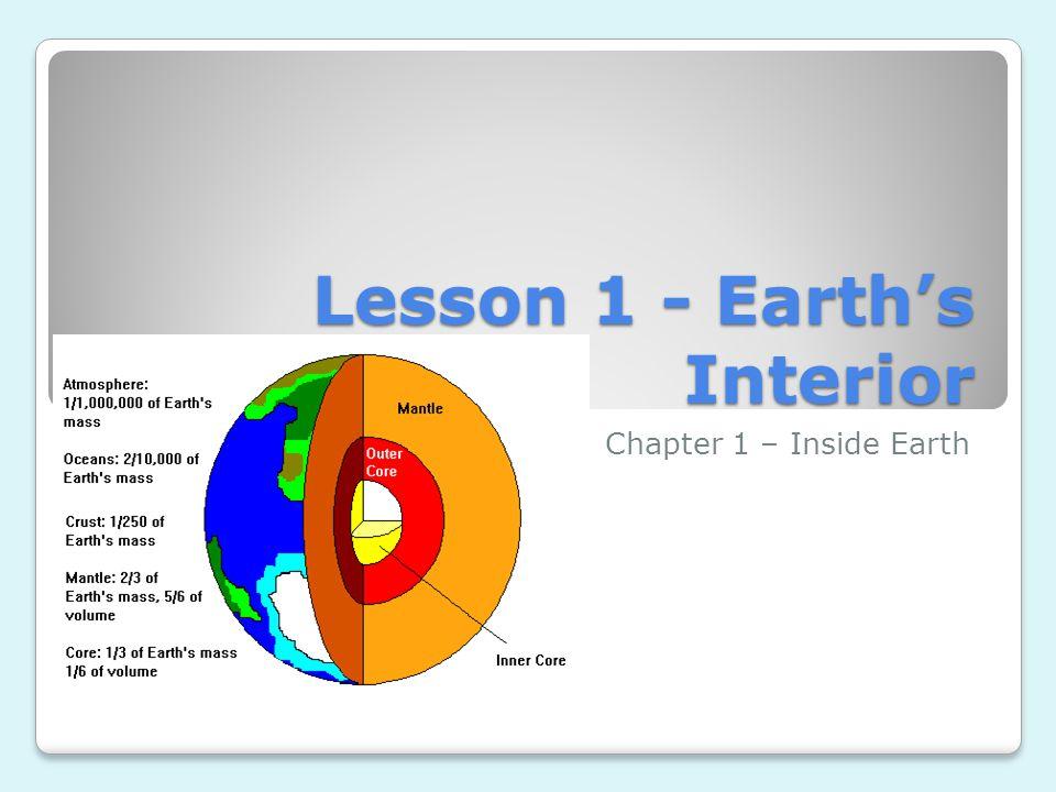 Lesson 1 - Earth's Interior
