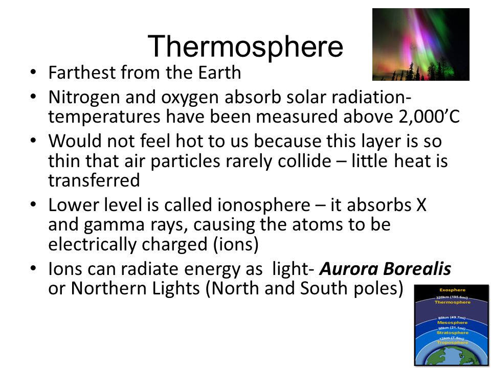 Thermosphere Farthest from the Earth
