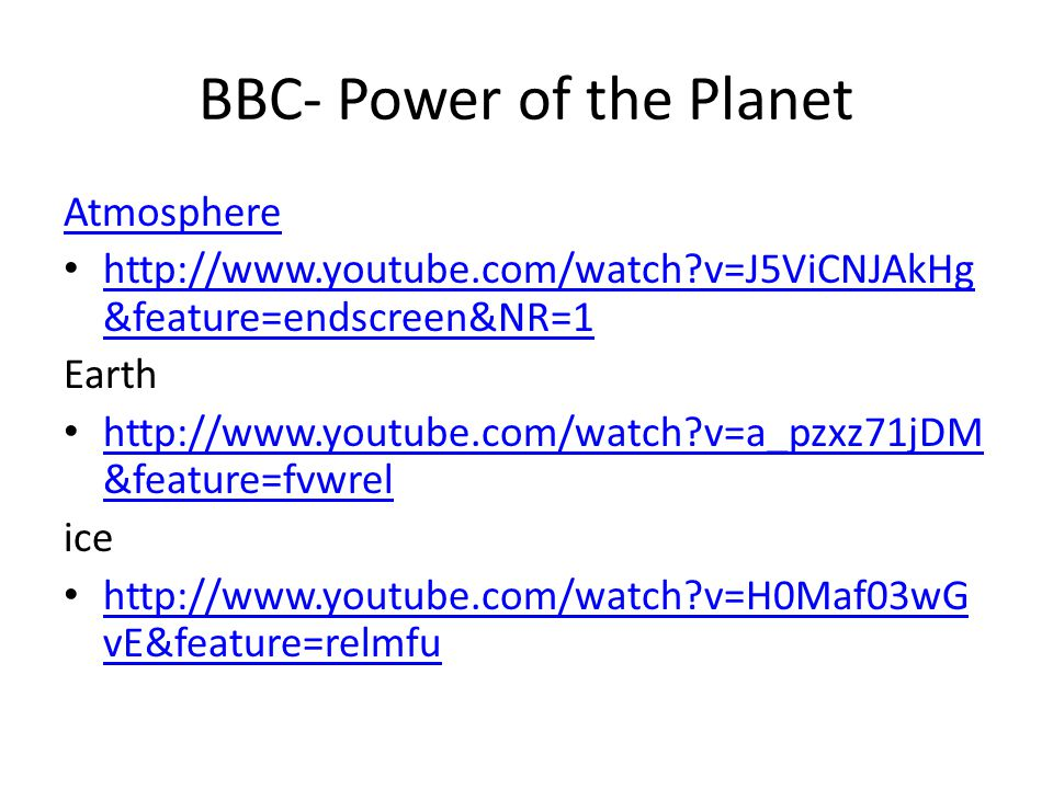 BBC- Power of the Planet