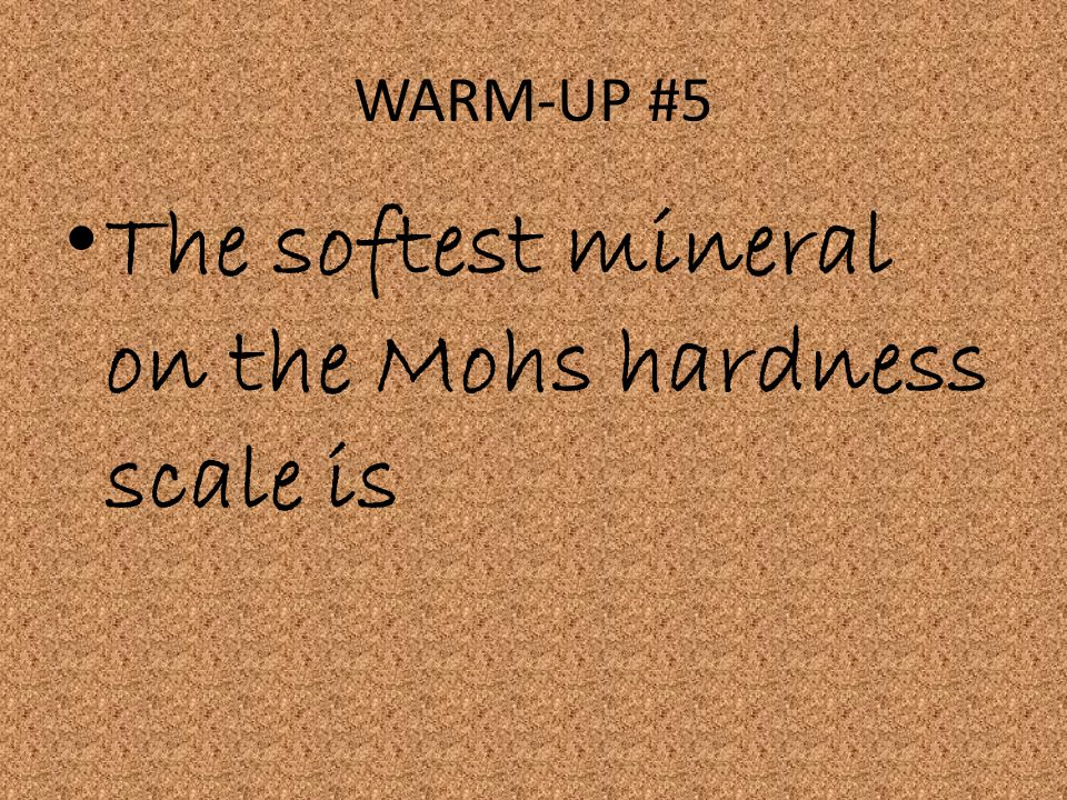 The softest mineral on the Mohs hardness scale is