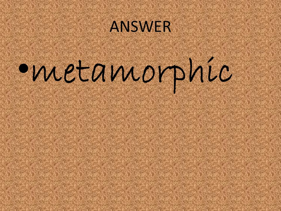 ANSWER metamorphic