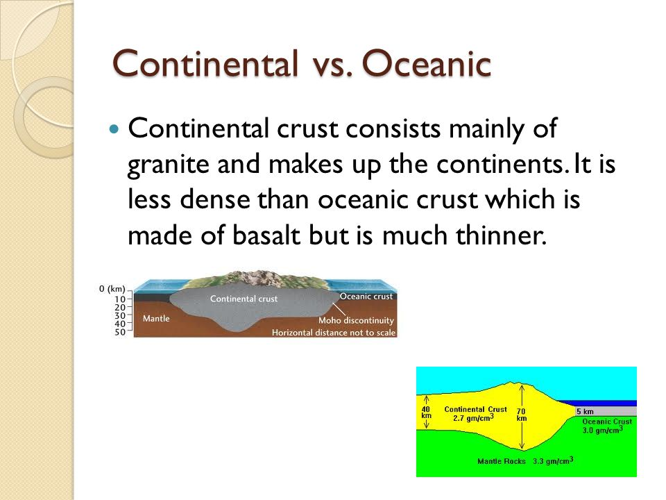 Continental vs. Oceanic