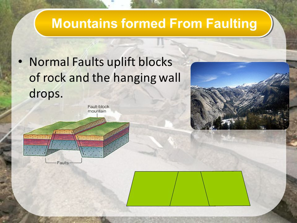 Mountains formed From Faulting