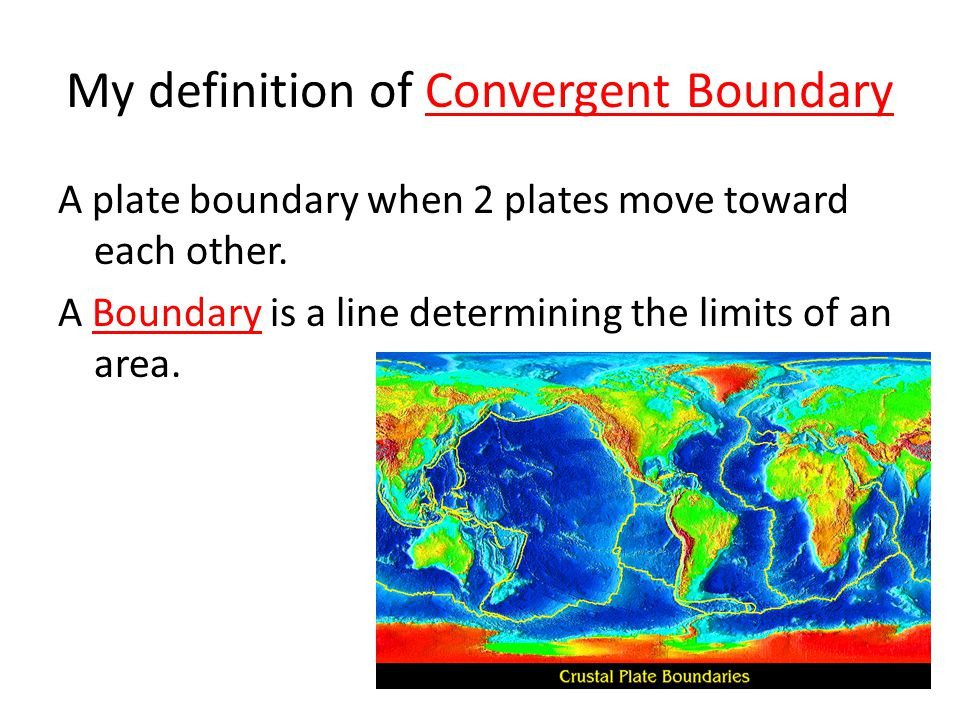 My definition of Convergent Boundary