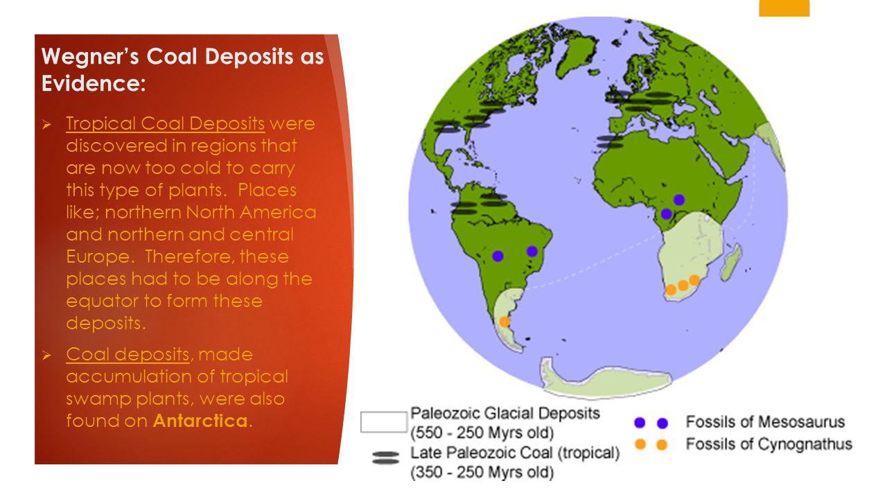 Wegner's Coal Deposits as Evidence: