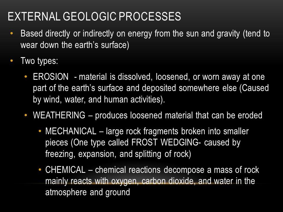 External Geologic Processes