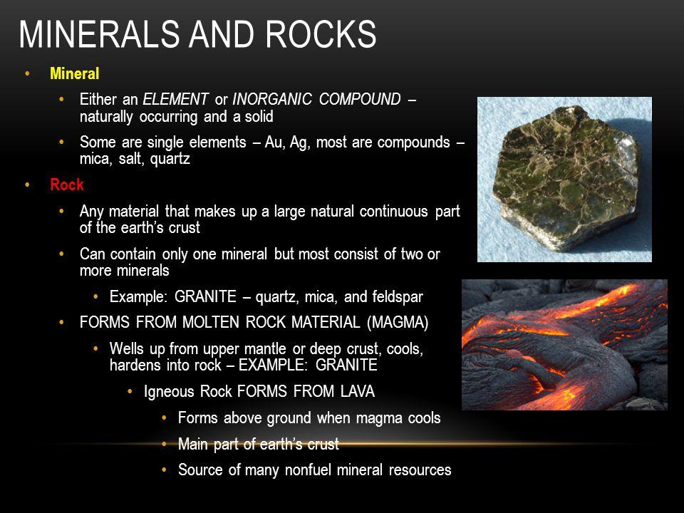 Minerals and rocks Mineral