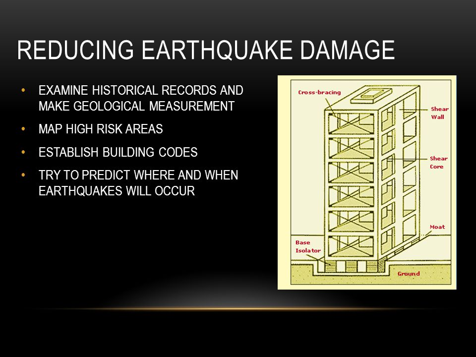 REDUCING EARTHQUAKE DAMAGE