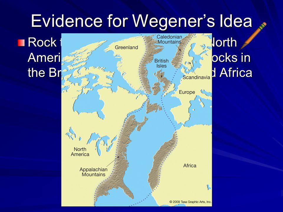 Evidence for Wegener's Idea