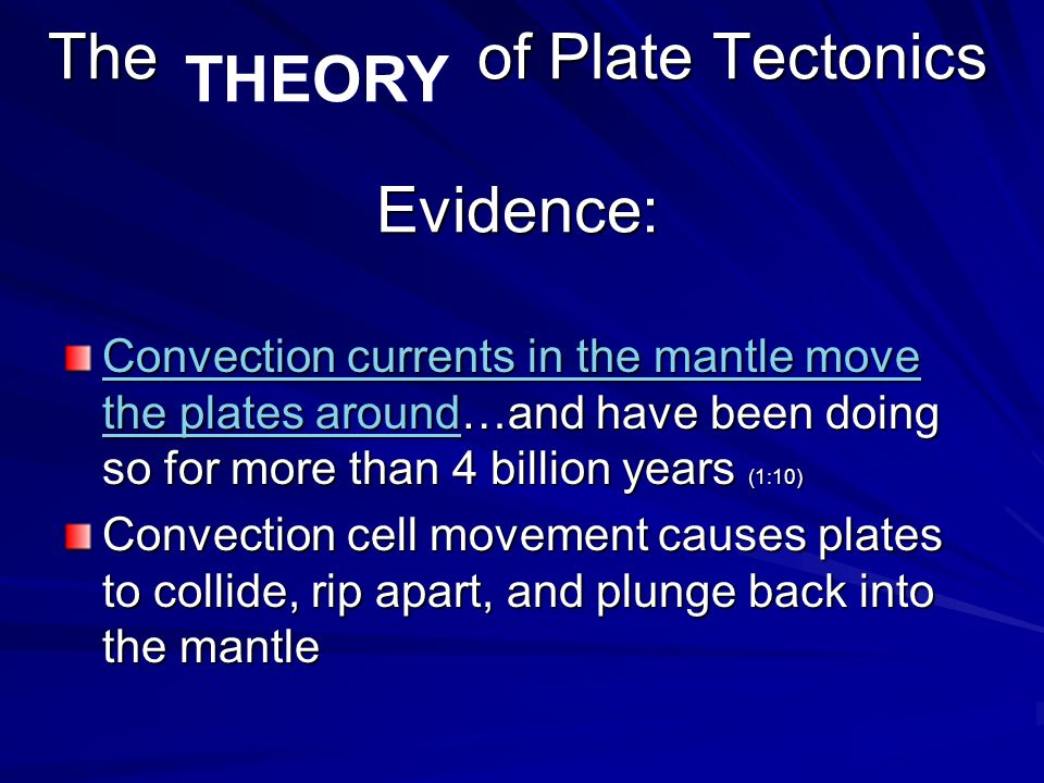 The of Plate Tectonics Evidence: