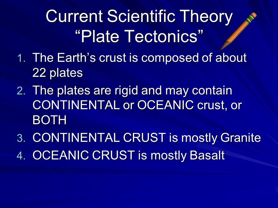 Current Scientific Theory Plate Tectonics