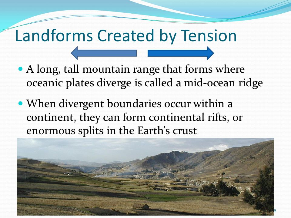 Landforms Created by Tension
