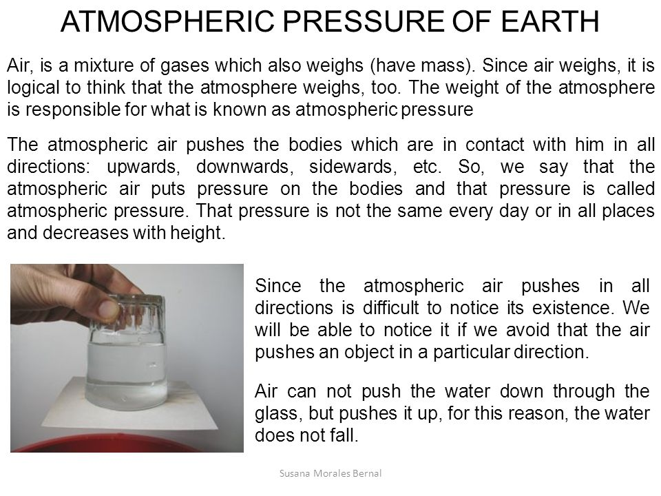 ATMOSPHERIC PRESSURE OF EARTH