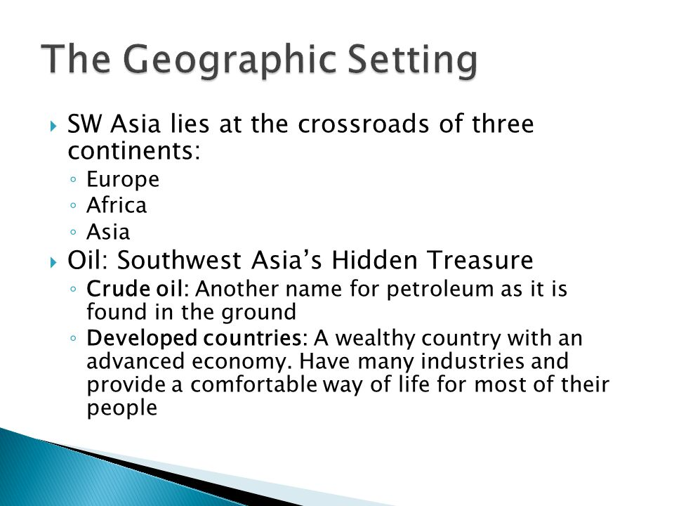 The Geographic Setting