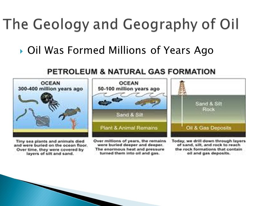 The Geology and Geography of Oil