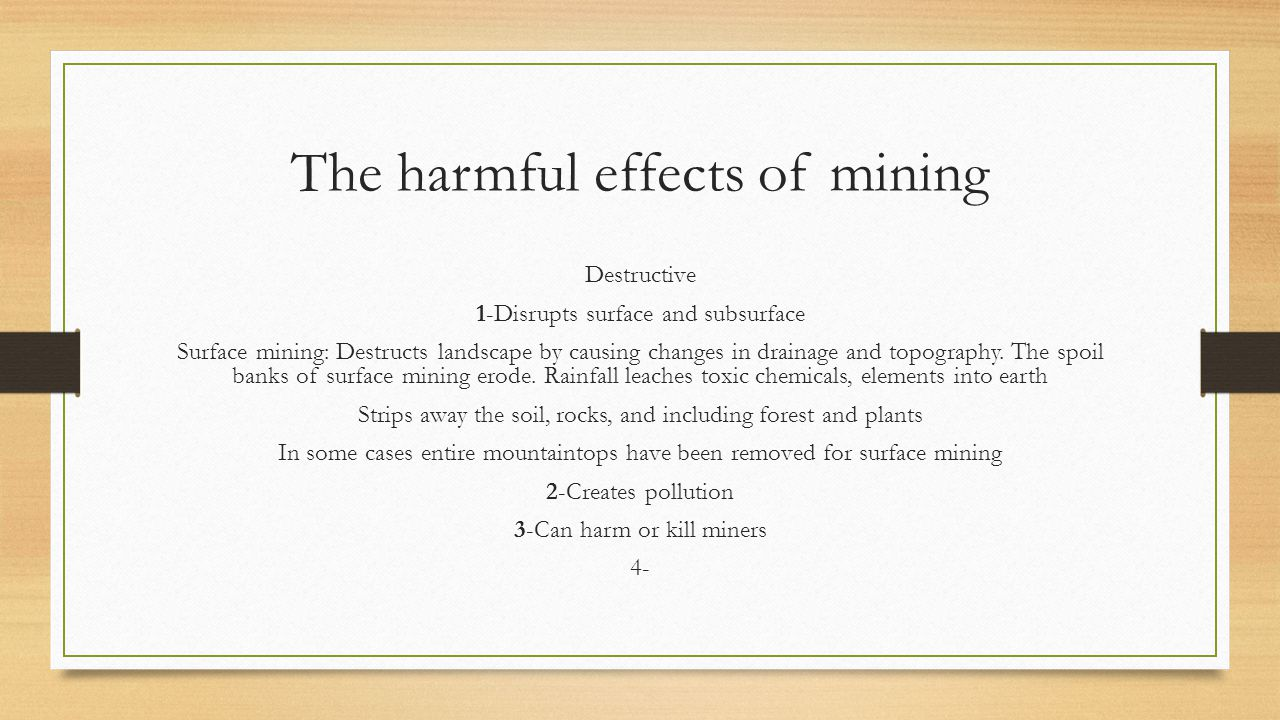 The harmful effects of mining
