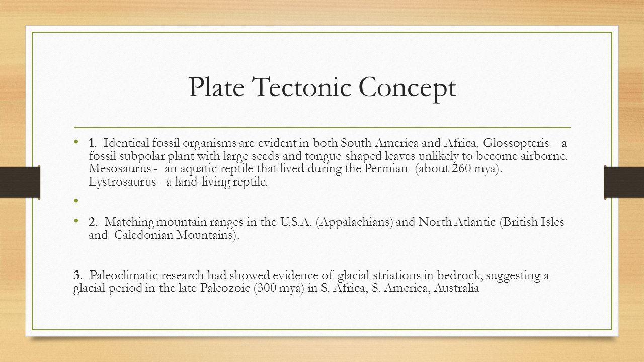 Plate Tectonic Concept