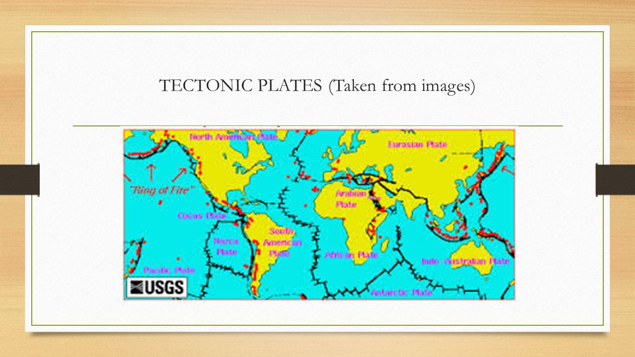 TECTONIC PLATES (Taken from images)