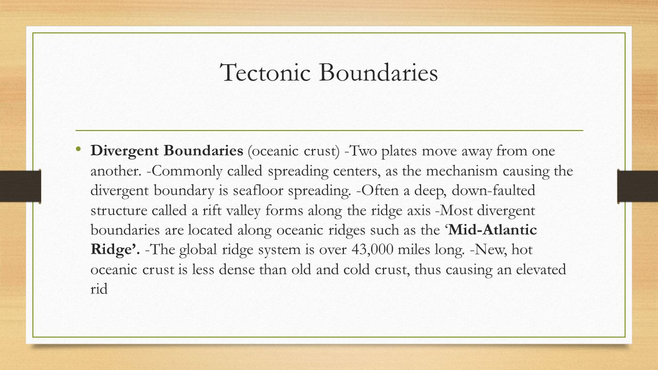Tectonic Boundaries