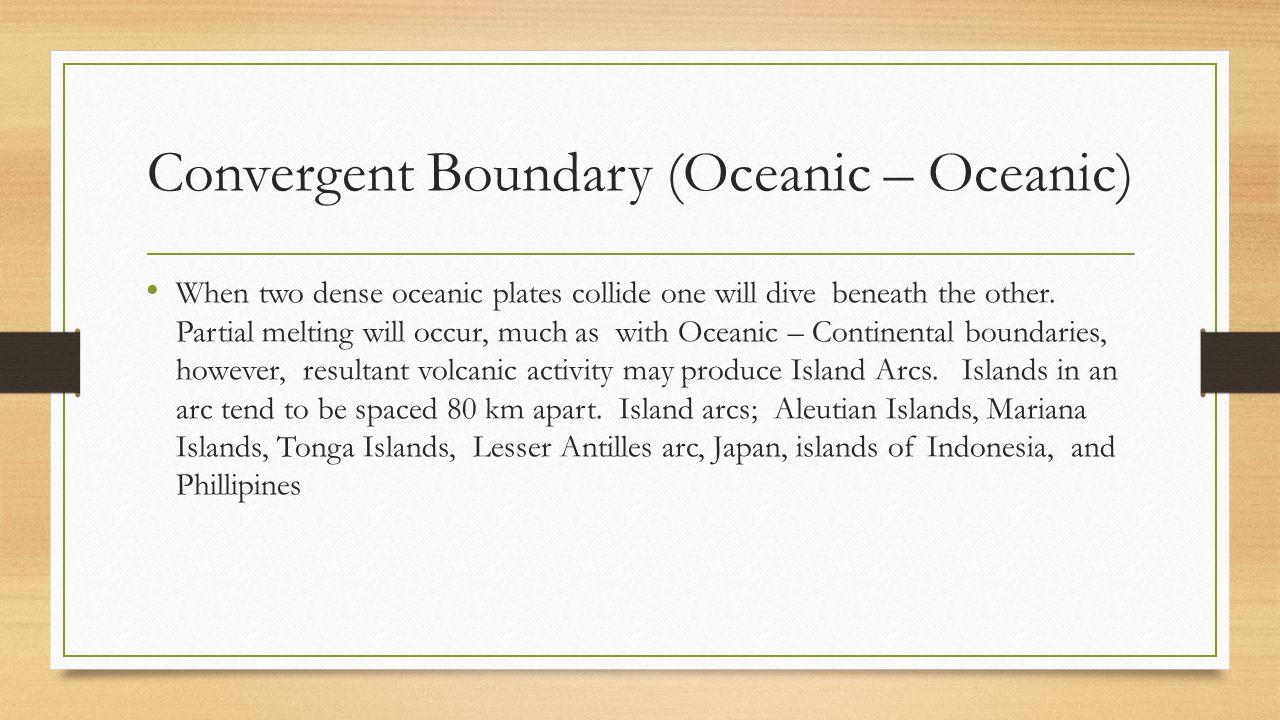 Convergent Boundary (Oceanic – Oceanic)