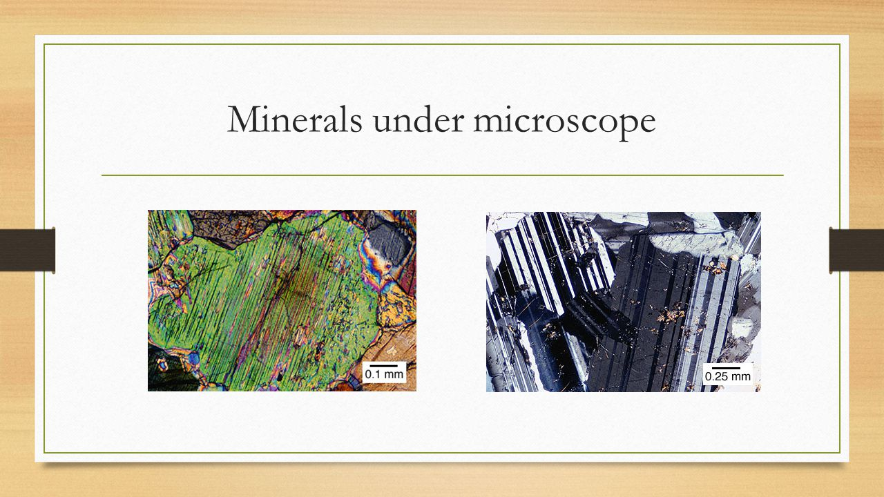 Minerals under microscope