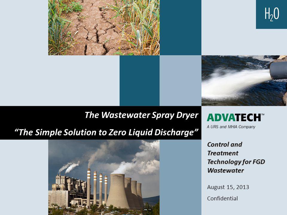 The Wastewater Spray Dryer