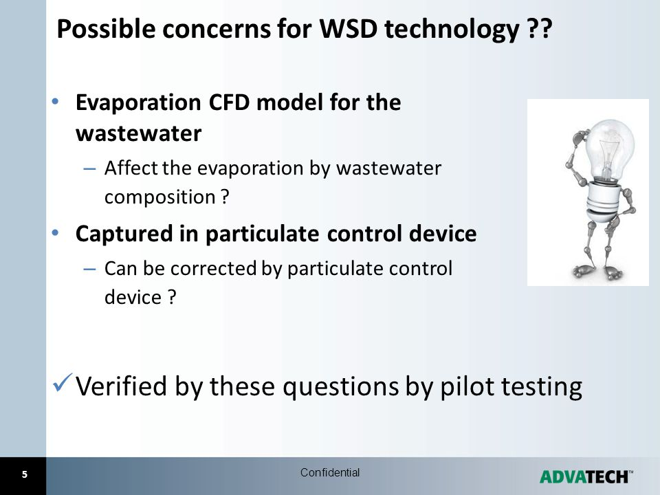 Possible concerns for WSD technology