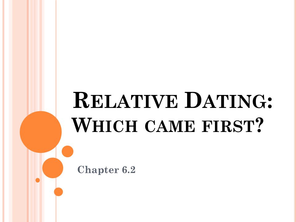 Relative Dating: Which came first