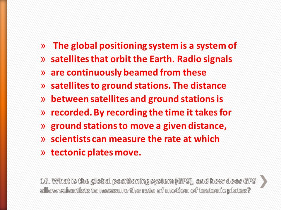 The global positioning system is a system of