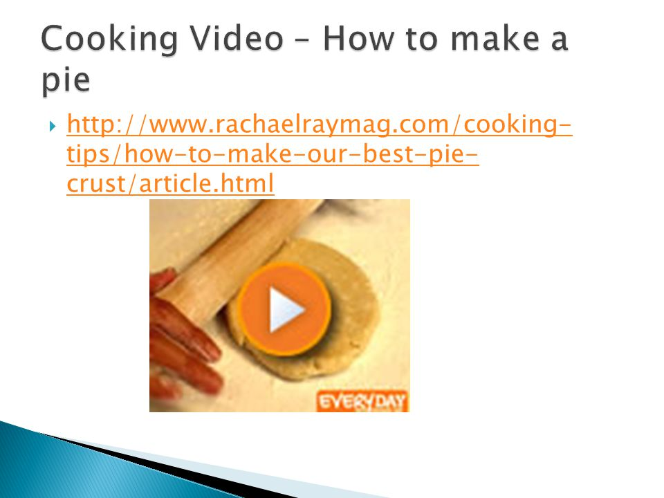 Cooking Video – How to make a pie
