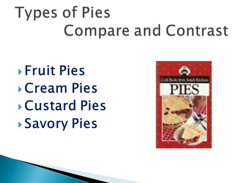 Types of Pies Compare and Contrast