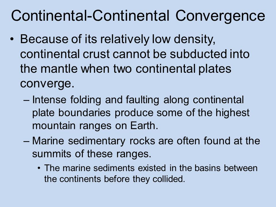 Continental-Continental Convergence