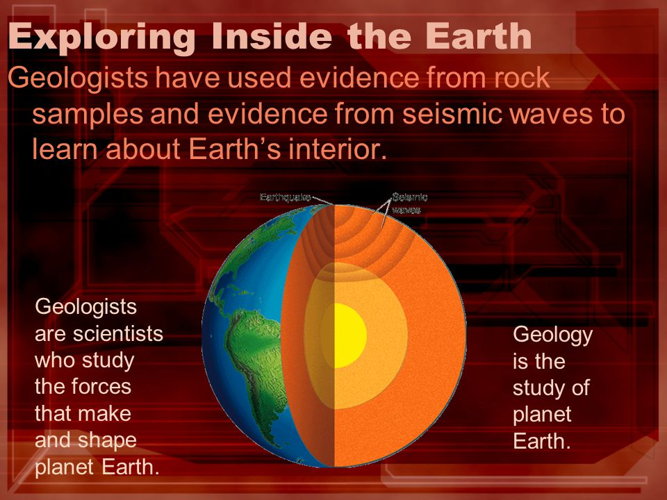 Exploring Inside the Earth