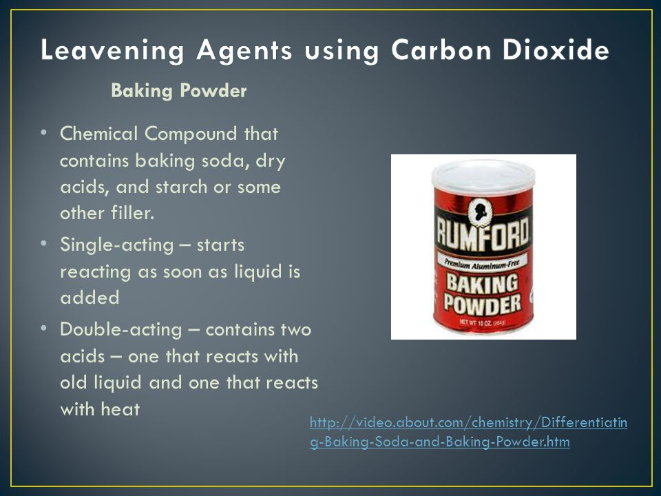Leavening Agents using Carbon Dioxide