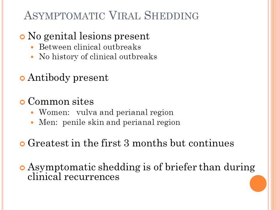 Asymptomatic Viral Shedding