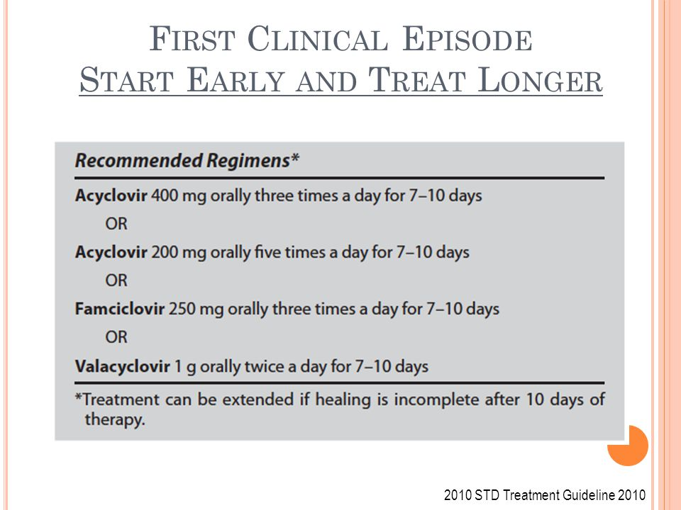 First Clinical Episode Start Early and Treat Longer