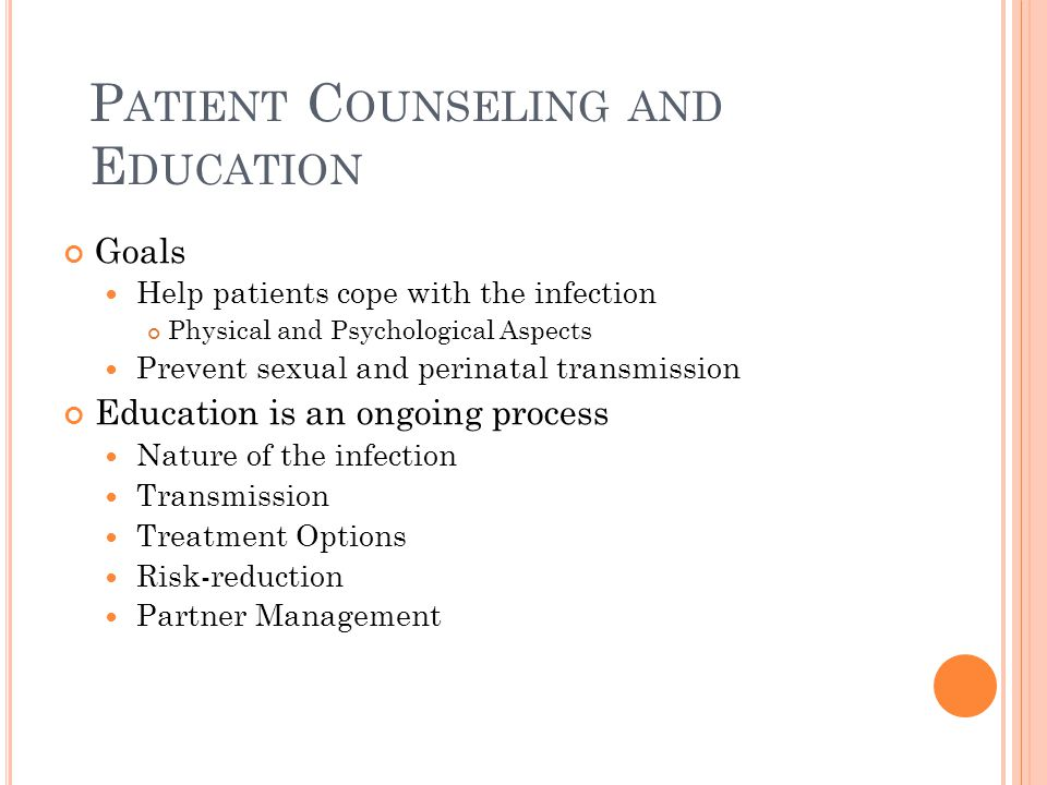 Patient Counseling and Education