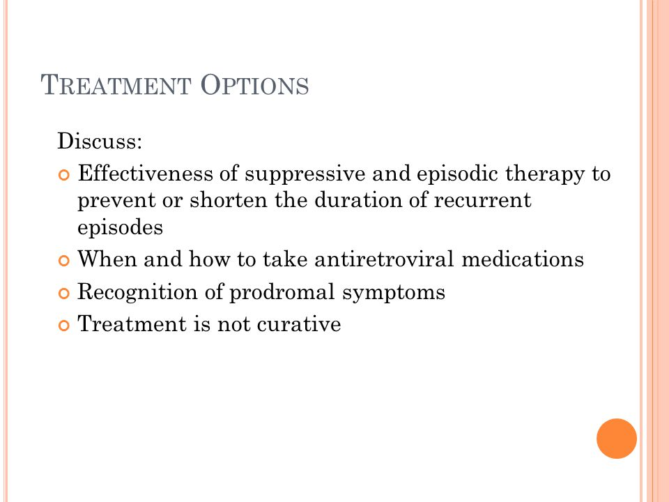 Treatment Options Discuss: