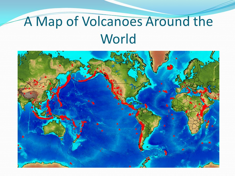 A Map of Volcanoes Around the World