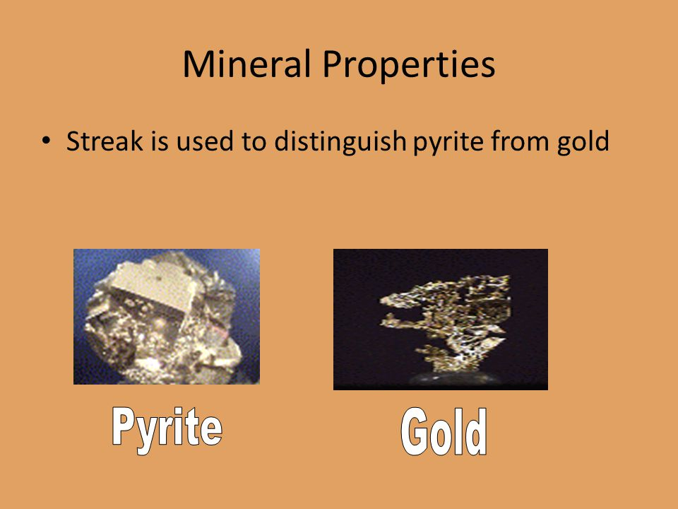 Mineral Properties Pyrite Gold