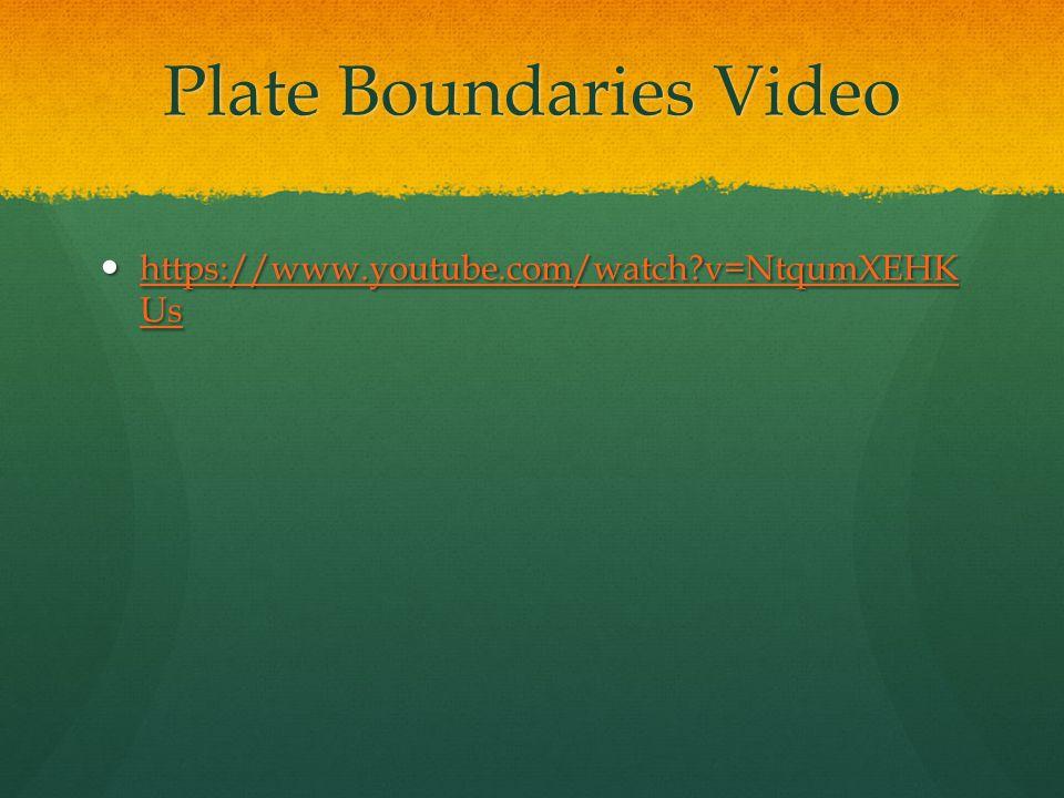 Plate Boundaries Video