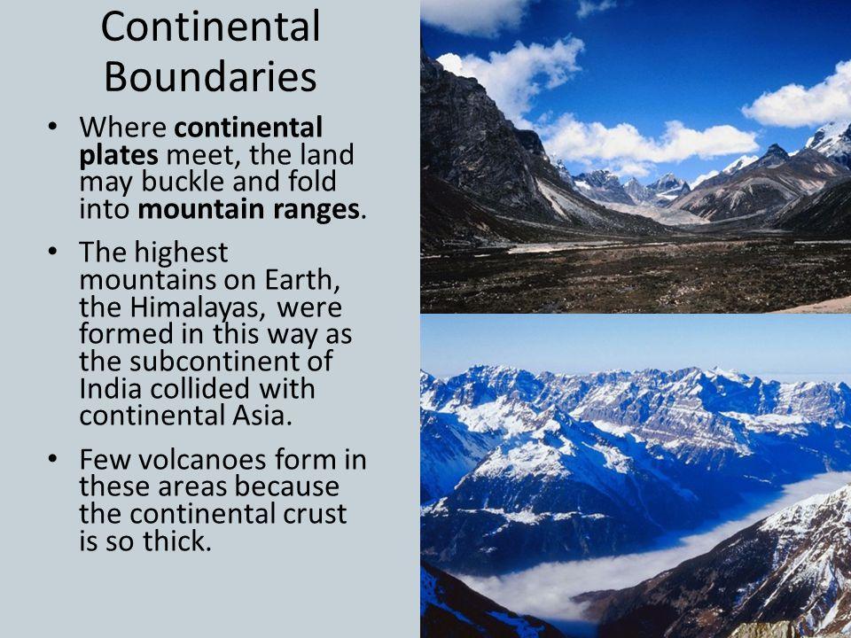 Continental Boundaries