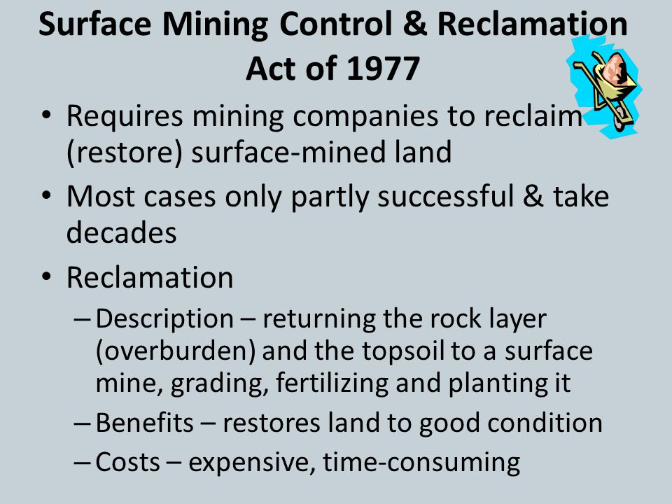 Surface Mining Control & Reclamation Act of 1977