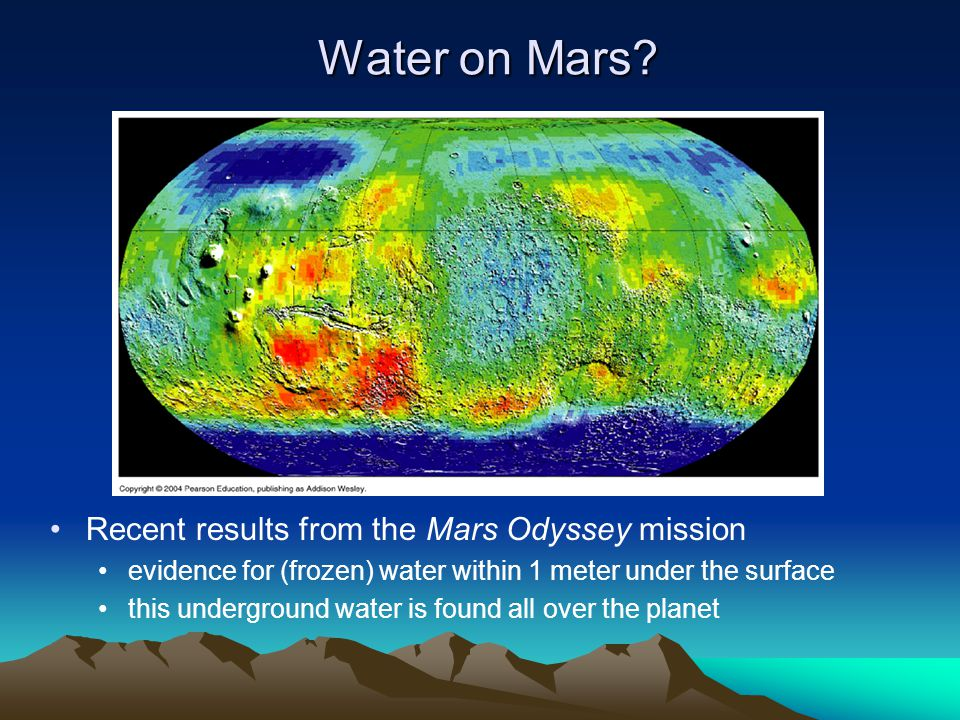Water on Mars Recent results from the Mars Odyssey mission