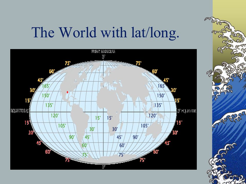 The World with lat/long.